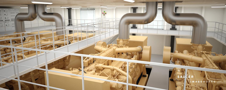 Sadler-Imageworks - 3D-Visualisierung Maschinenraum